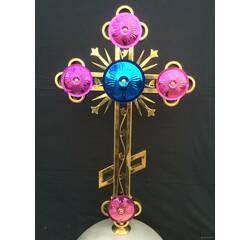 Хрест накупольний з кольоровим напиленням