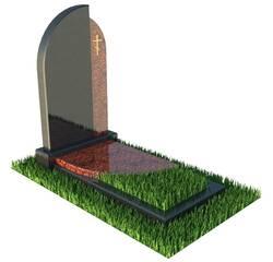 Гранітний пам'ятник на могилу з лізником