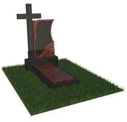 Гранітний пам'ятник з хрестом
