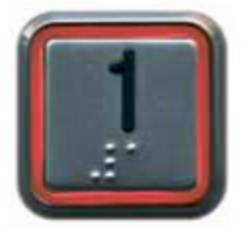 Круглая кнопка с двойной подсветкой