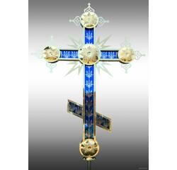 Хрест накупольний синього кольору, купити у роздріб