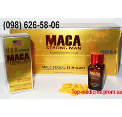 Maca USA Strong Man (Маку) - 10 таблиць. 6800 мг.- препарат для найсильнішої потенції. дія через 10 мін.