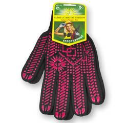 Перчатки с ПВХ точкой, 10 класс вязки, уплотненные