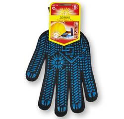 Перчатки с ПВХ точкой, 10 класс вязки, черные