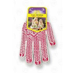 Перчатки с ПВХ точкой, 13 класс вязки, серые