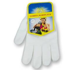 Перчатки рабочие, отбеленные, синтетические
