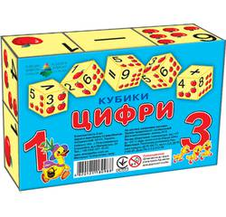 Кубики 6 шт. ЦИФРИ