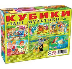 Кубики 12 шт. РІДНІ МУЛЬТИКИ