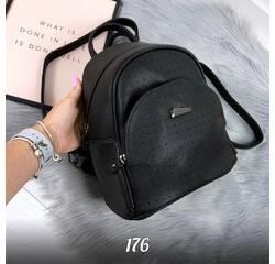 Стильный черный рюкзак 176 (ЯМ)