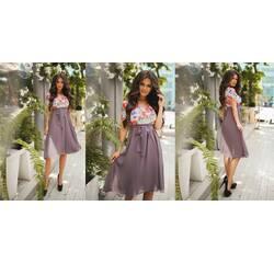 Платье Мод 432 масло+шифон на подкладке (AMBR)