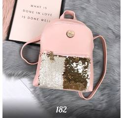 Розовый рюкзак с пайетками 182 (ЯМ)