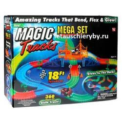 Гоночна траса Magic Tracks на 360 деталей з мостом + 20 деталей в подарунок + 2 машинки купити в Харкові