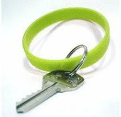 Силиконовые браслеты с кольцом для ключей, упаковка 100 шт. купить в Украине