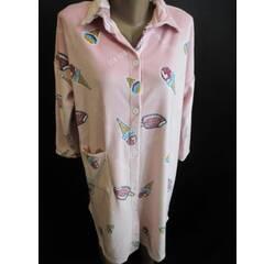 Теплий халат - сорочка для жінок.