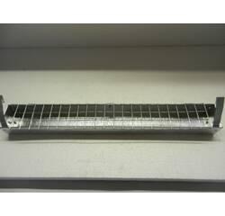 Лоткова годівниця для курей, перепелів та ін., 50 см (ЛК-6) оцинкована з кришкою