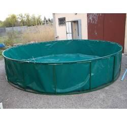 Басейн круглий для риборозведення об'ємом 19,6 м3 ПВХ, каркасний, розбірний