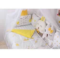 Комплект в ліжечко із звірятками сіро-жовтий!