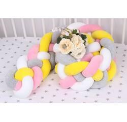 Борт кіска в ліжечко різноколірна на 4 плетіння 20х120 см