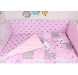 Тонкі борти захист в ліжечко з Сердечками і зірками