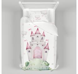 Дитяча постільна білизна 150х200 см з авторським малюнком Принцеси
