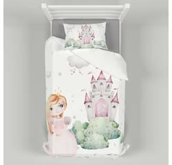 Дитяча постільна білизна 110х140 см з авторським малюнком Принцеси