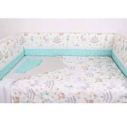 Тонкі борти захист в ліжечко із Зверятами і  мереживом
