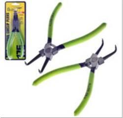 Щипці для стопорних кілець стиск загнутий 175мм Alloid СК-6044B