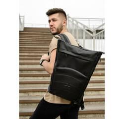 Рюкзак ролл Sambag RollTop MQN Чорний з битим сереблом