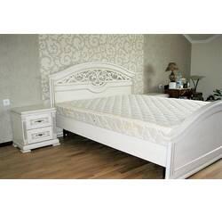 Дубове двоспальне ліжко Діва