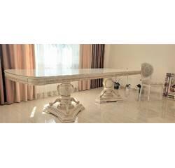 Шикарний розкладний дубовий стіл Шедевр у вітальню