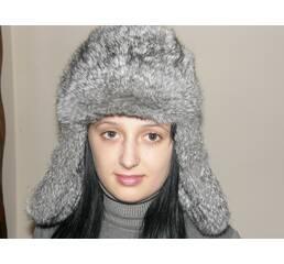 Хутряна шапка вушанка (сіра) 7e449153830da