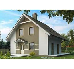 Дом площадь 100 м.кв. с балконом. Размер 7 на 7м, 2 этажа. Построим.
