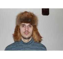 Чоловіча шапка-вушанка (лиса) b1b61568f5318