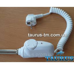 ЭЛЕКТРОТЭН (нагрівач) білий з регулятором, Польща для полотенцесушилок
