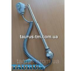 ТЭН (Польща) хром з кнопкою живлення для полотенцесушителя (автотермостат 60С) 300-600Вт. TERMA REG2 chrome