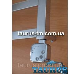 ТЭН HeaterQ квадратної форми з електронним регулятором  таймер (Польща) хром, для полотенцесушителя TAURUS