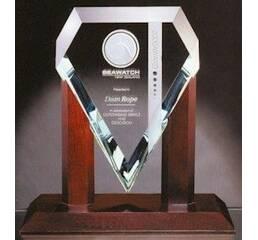 Награда из стекла под нанесение логотипа арт. PG022