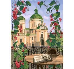 """Схема для вышивки картины бисером """"Доминиканский собор"""""""