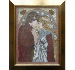 """Схема для вышивки картины бисером """"Влюбленная пара"""""""