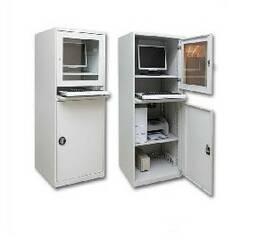 Стаціонарна комп'ютерна шафа ШКУ-1 (RAL-7035 \ Ral-7035)