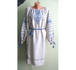 платье женское вышитое ручной работы