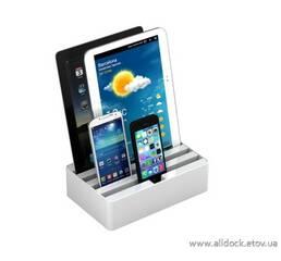 Док-станция для телефонов, смартфонов и планшетов All-Dock, цвет - белый, Размер -М