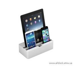 Док-станция для телефонов, смартфонов и планшетов All-Dock, цвет - белый, Размер -S