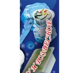 Морозиво ванільне з джемом в лотку