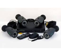 Комплект відеоспостереження (комплект видеонаблюдения) на 4 камери
