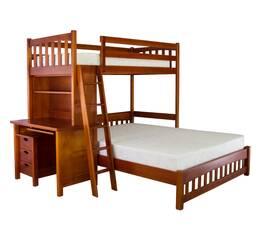 """Трехместная кровать """"7ya"""" с рабочей зоной"""