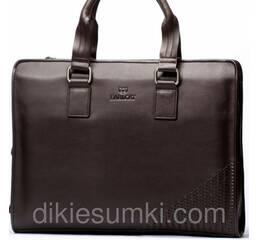 Чоловіча сумка портфель EARLCAT  коричнева