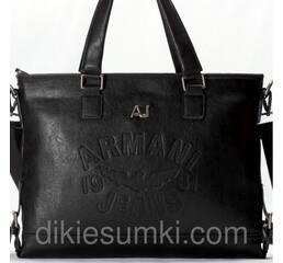 Чоловіча сумка портфель Giorgio Armani  чорного кольору