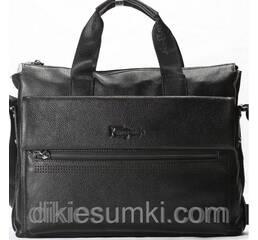 Чоловічий портфель   SF шкіряний чорного кольору