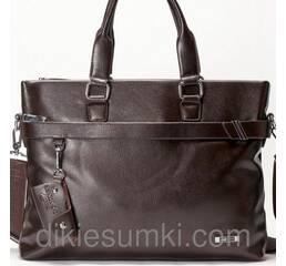 Чоловічий портфель  Dong Fangey коричневого кольору